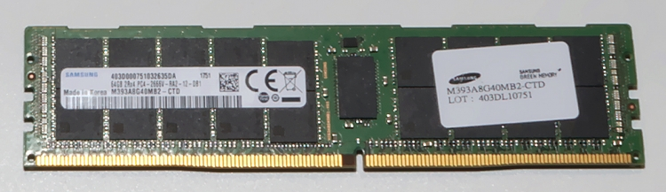 Модуль памяти ёмкостью 64 Гбайт на базе микросхем DDR4-2666 объёмом 16 Гбит