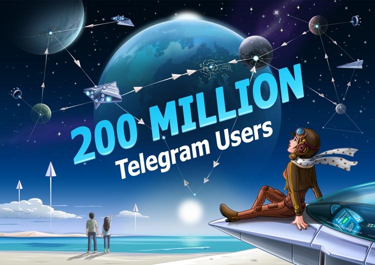 """Количество активных пользователей Telegram достигло 200 млн в месяц"""""""