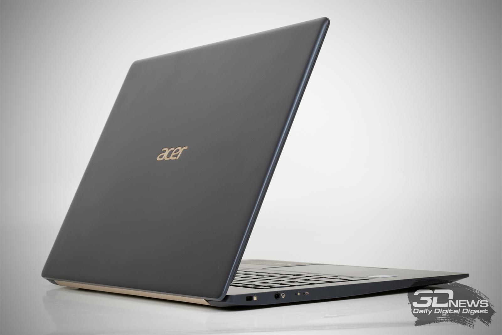 Обзор ноутбука Acer Swift 5: нет времени созерцать — надо работать