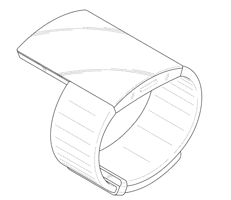 Samsung проектирует носимый гаджет с большим дисплеем