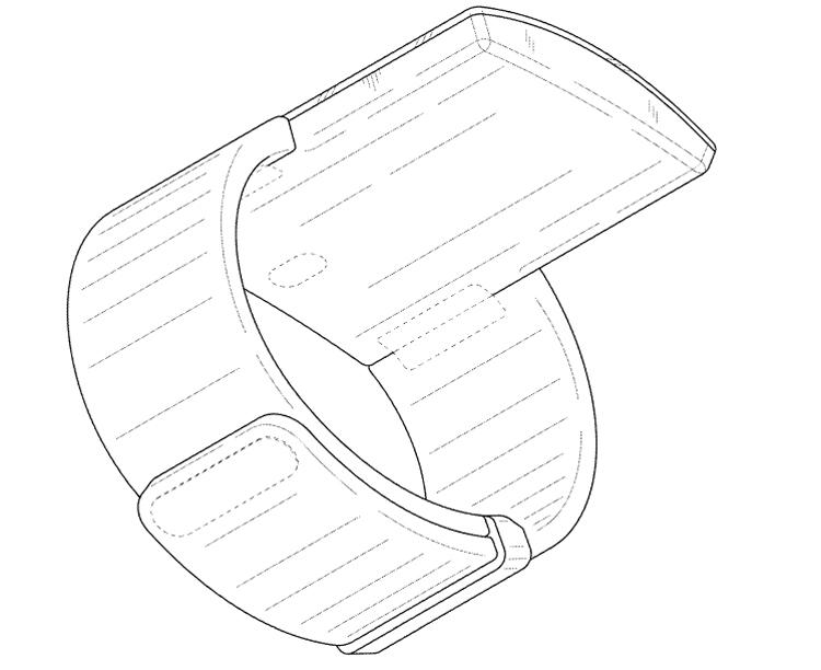 Самсунг разработает носимый гаджет сбольшим дисплеем