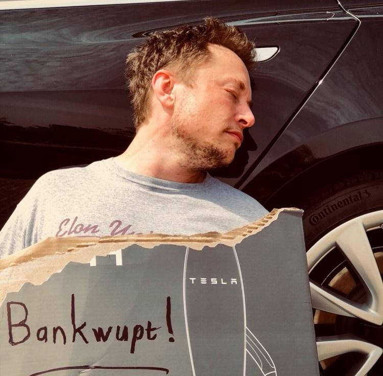 """1 апреля Tesla подала заявление о банкротстве по всем статьям"""""""