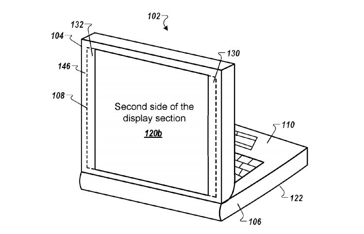 В Google запатентован ноутбук с двумя дисплеями на крышке