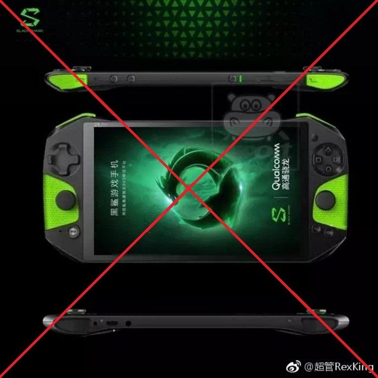 black shark xi - Фейковое изображение Xiaomi Blackshark сделало из игрового смартфона портативную консоль