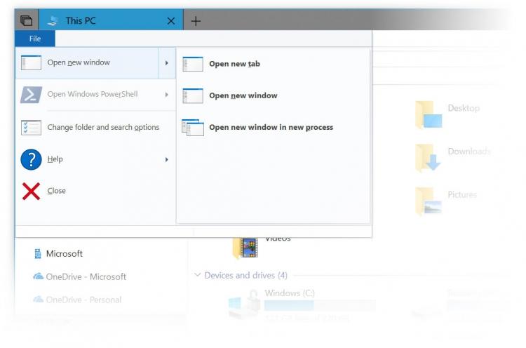 """В Windows 10 тестируется функция Sets для объединения нескольких окон в одно"""""""