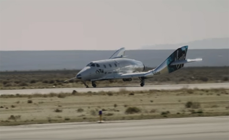 Космоплан изАмерики выполнил 1-ый полет наракетной тяге