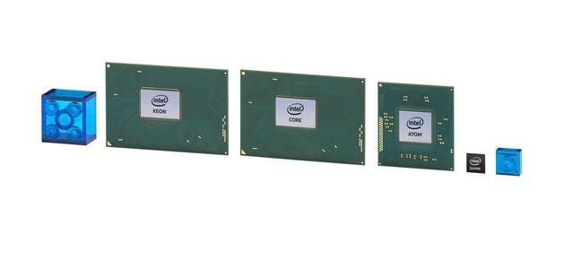 Микроконтроллер Inte lQuark на фоне обычных процессоров компании
