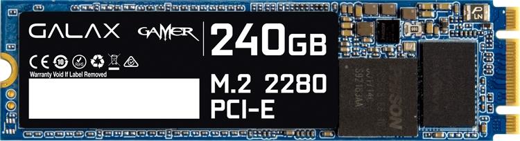 Накопитель GALAX Gamer 240-M.2 PCI-E 2280 комплектуется радиатором охлаждения