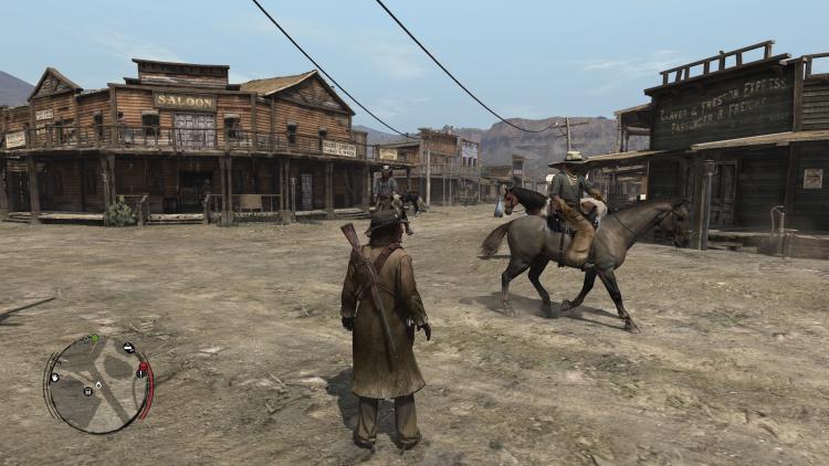 Скриншот Red Dead Redemption, снятый пользователем форума ResetEra на Xbox One X в 4K