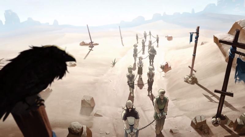 Между главами нам показывают предысторию героев в виде мультфильма