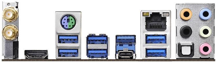 Задняя панель X470 Master SLI/ac