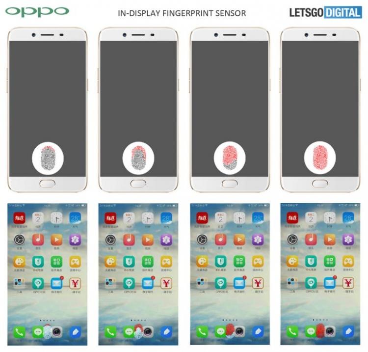 Компания Орро запатентовала отпечаток пальцев вдисплее