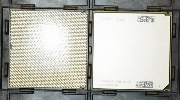 Пара 8-ядерных процессоров POWER9