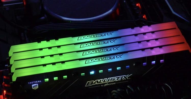 ddr1 - Память Ballistix Tactical Tracer RGB DDR4 для игровых ПК поступила в продажу