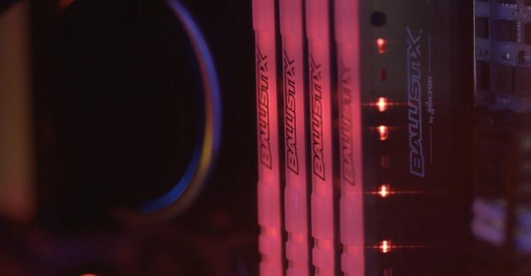 ddr4 - Память Ballistix Tactical Tracer RGB DDR4 для игровых ПК поступила в продажу