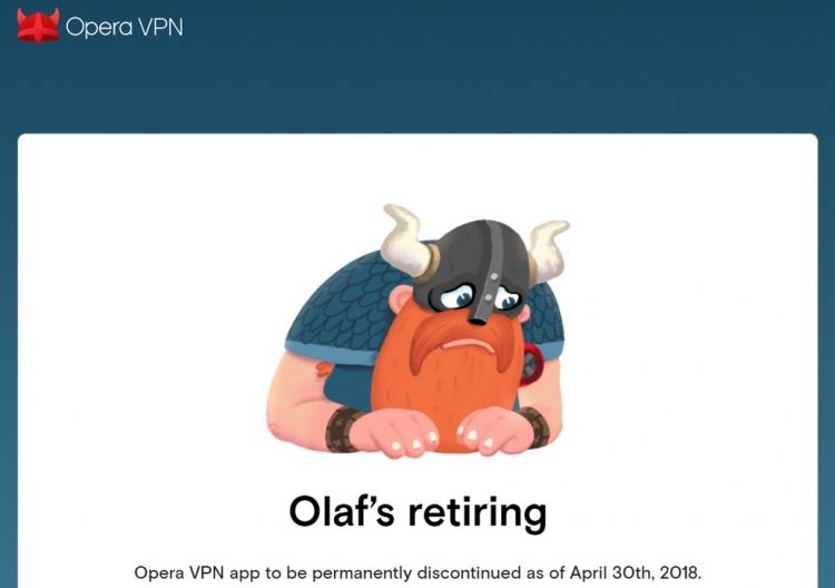Opera VPN для iOS и андроид прекращает работу