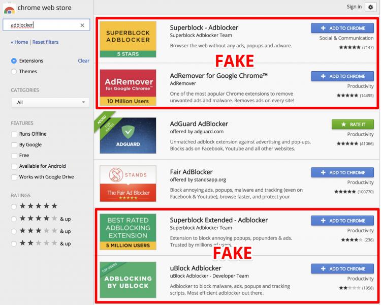 """Более 20 млн пользователей Chrome стали жертвами вредоносных блокировщиков рекламы"""""""