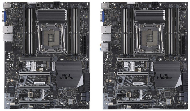 Supermicro C9X299-RPGF и Supero C9X299-PGF (справа)