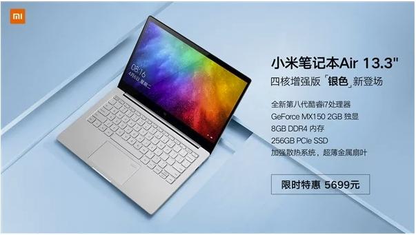 Xiaomi поведала про новейшую версию ноутбука Silver MiNotebook Air