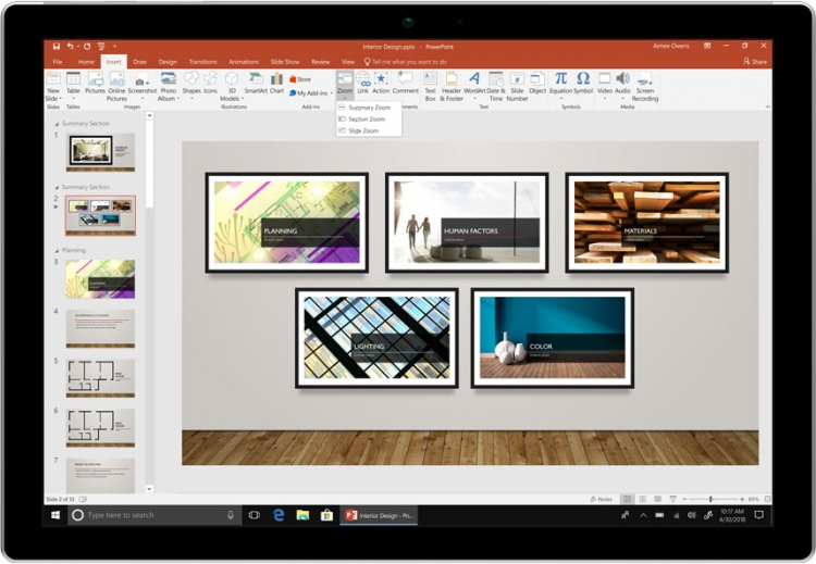 PowerPoint Zoom позволяет создавать более динамичные и захватывающие презентации