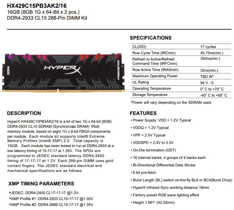11 5 - Память HyperX Predator DDR4 RGB дебютирует на рынке