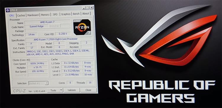 6009,34 МГц — самый большой «скриншотный» разгон старшего процессора AMD AM4