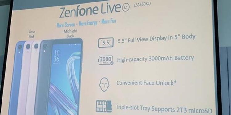 "ASUS Zenfone Live L1: смартфон на платформе Android Go"""