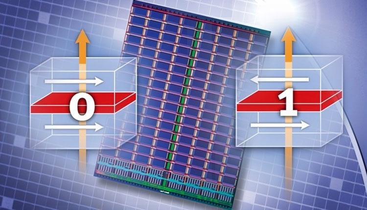 Информация в ячейке MRAM хранится в виде намагниченности слоёв