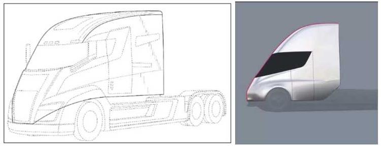 """Tesla обвиняется в нарушении патентов на дизайн электрического грузовика"""""""