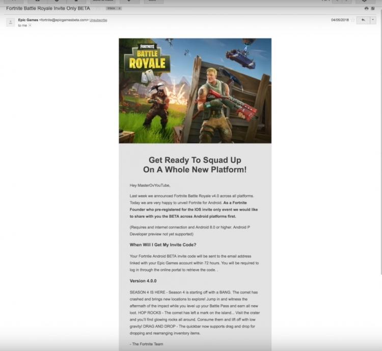 """Epic Games рекомендует не доверять сообщениям о скором релизе Fortnite на Android"""""""
