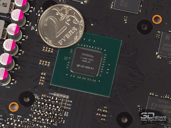 Ядро GP107-400: 768 потоковых процессоров, 128-битная шина памяти