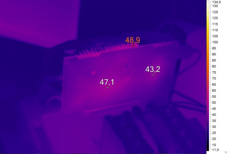 Нагрев ASUS CERBERUS-GTX1050Ti-A4G