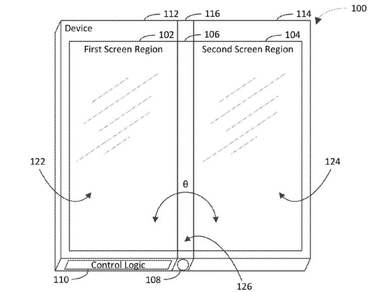 """Microsoft патентует складной гаджет с необычной конфигурацией дисплеев"""""""