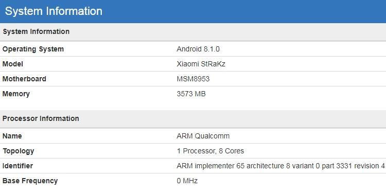 """Загадочный смартфон Xiaomi StRaKz показался в бенчмарке"""""""
