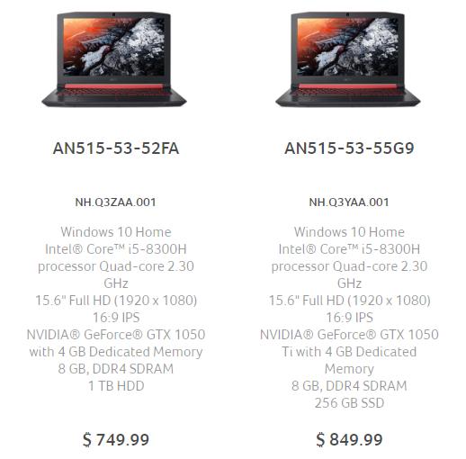 """Acer выпустила модель ноутбука Nitro 5 с GeForce GTX 1060"""""""