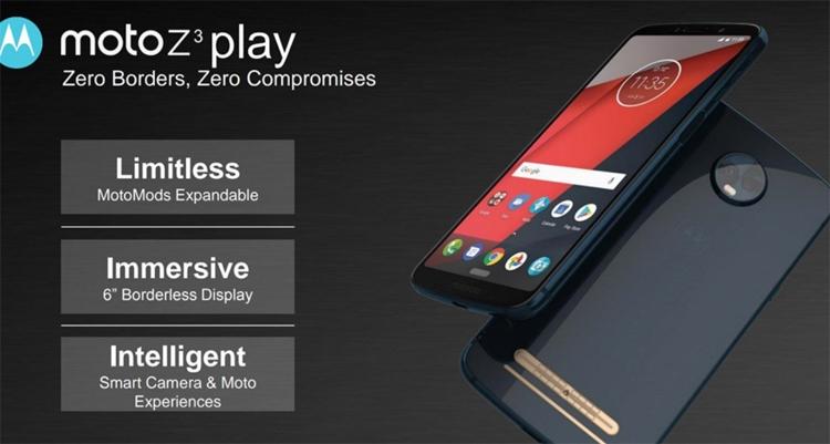 """Раскрыты ключевые характеристики смартфона Moto Z3 Play с комплектами Moto Mods"""""""