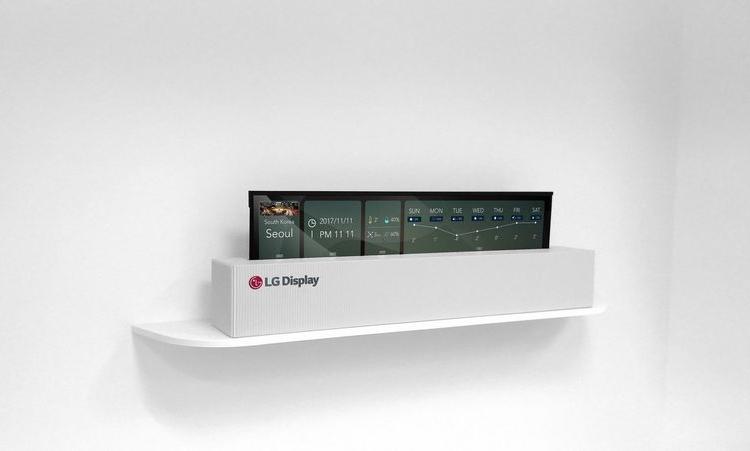 """LG создала гигантский прозрачный гибкий дисплей"""""""
