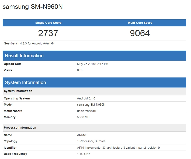 "Фаблет Samsung Galaxy Note 9 получит до 512 Гбайт флеш-памяти"""