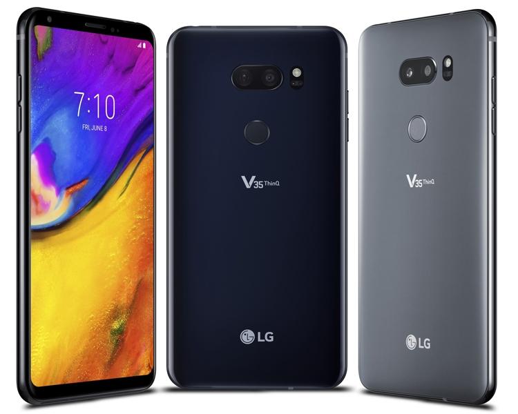 """LG V35 ThinQ: мощный смартфон с чипом Snapdragon 845 и экраном QuadHD+"""""""