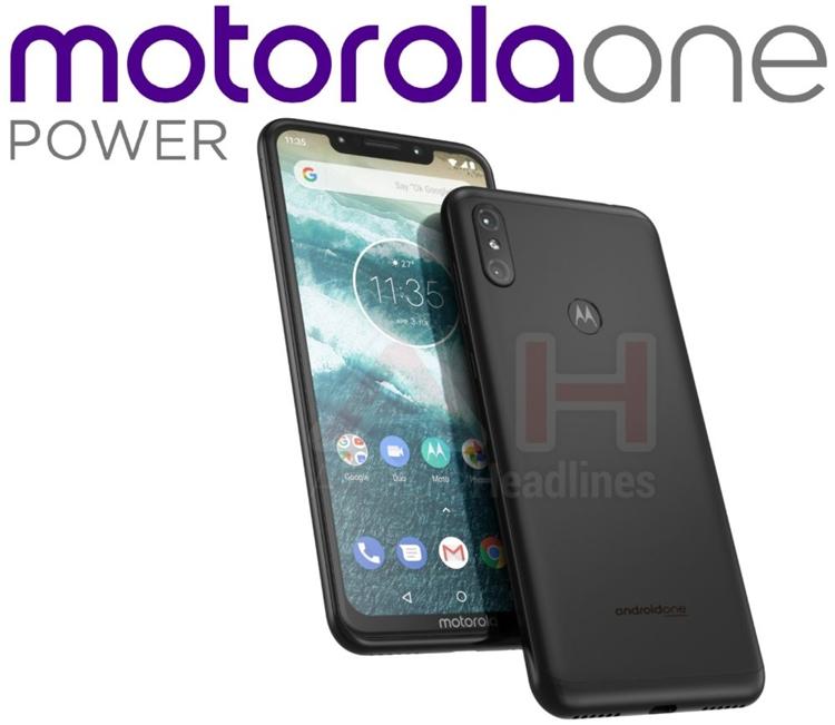 """Смартфон Motorola One Power получит безрамочный дисплей с вырезом"""""""