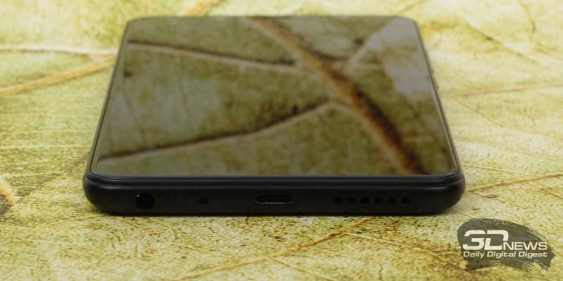 Xiaomi Redmi Note 5, нижняя грань: microUSB для зарядки и соединения с компьютером, динамик, микрофон и мини-джек (3,5 мм) для наушников/гарнитуры