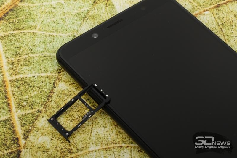 Xiaomi Redmi Note 5, слот для SIM-карт и/или карты памяти