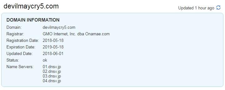 """Capcom зарегистрировала домен для Devil May Cry 5 и продлила права на торговую марку Deep Down"""""""