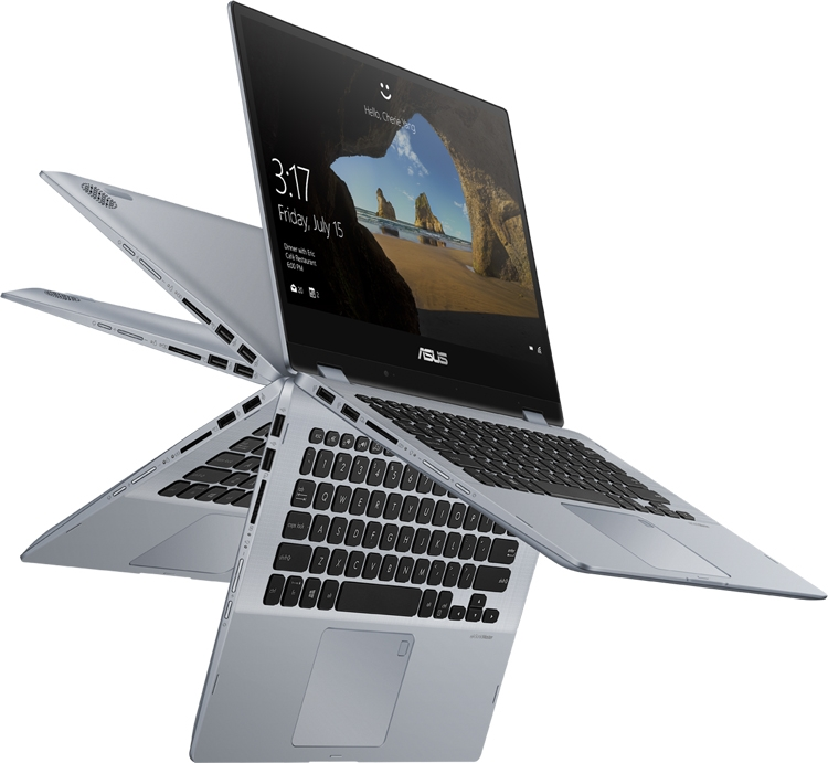 "Computex 2018: ноутбук-трансформер ASUS VivoBook Flip 14 получил экран NanoEdge"""