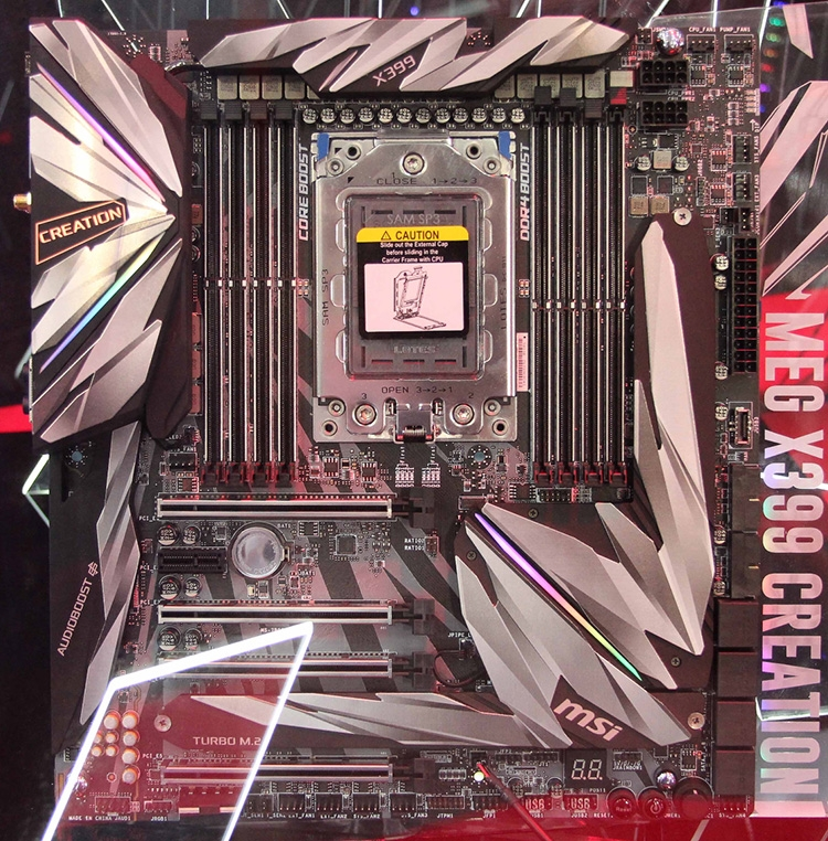 MSI MEG X399 Creation с 19 фазами питания