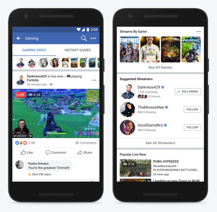 """Facebook запустила страницу с игровыми стримами и будет помогать авторам-новичкам"""""""