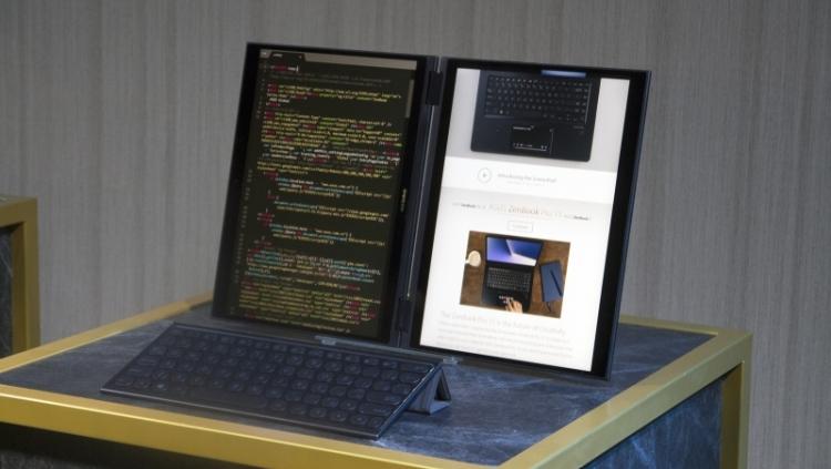 """Computex 2018: концептуальныйнетбук Intel Tiger Rapids с двумя экранами"""""""