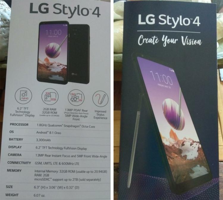 """Раскрыто оснащение смартфона LG Stylo 4: чип Snapdragon и 6,2"""" экран"""""""
