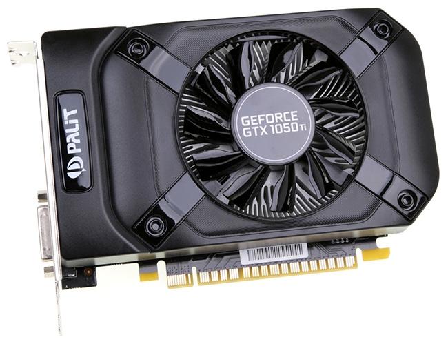 Похожая внешне модель Palit GeForce GTX 1050 Ti StormX