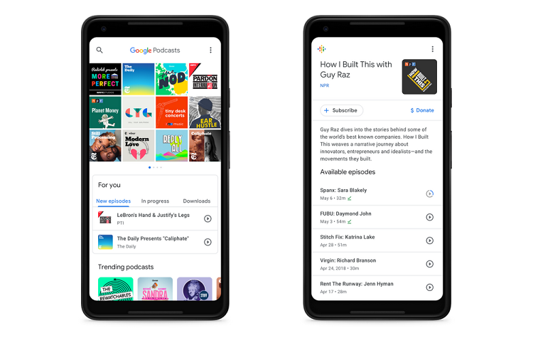 Google released the Android podcast player